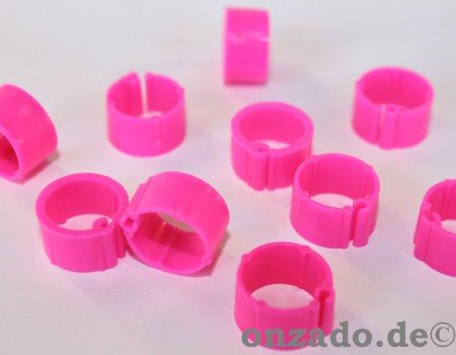 Clipsringe leutchtend pink 10 mm 10 Stück