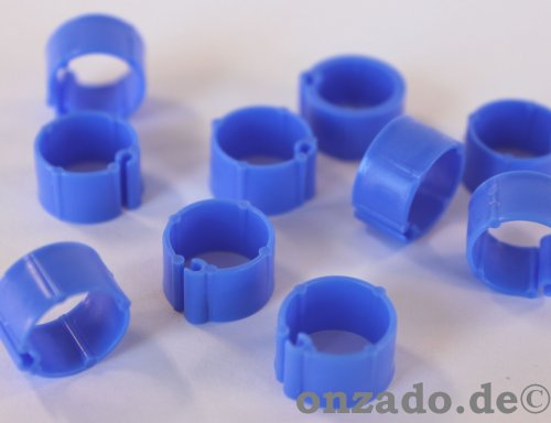 Clipsringe dunkelblau 10 mm 10 Stück