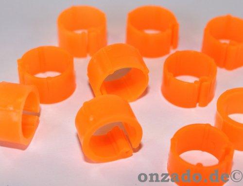 Clipsringe leuchtorange 10 mm 10 Stück