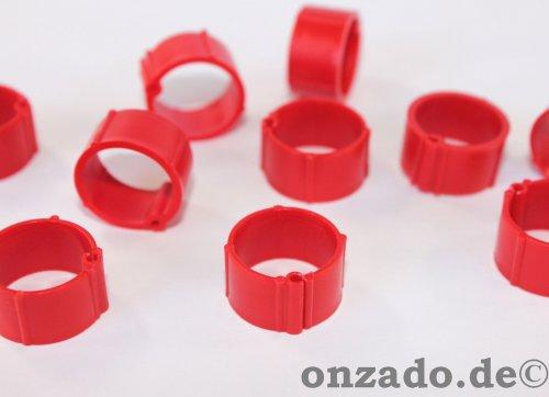 Clipsringe rot 14 mm 10 Stück