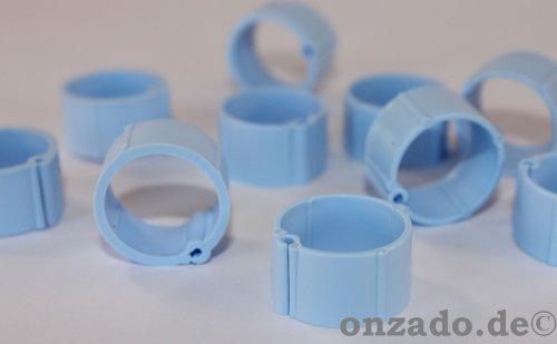 Clipsringe hellblau 14 mm 10 Stück