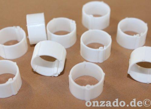 Clipsringe weiß 14 mm 10 Stück