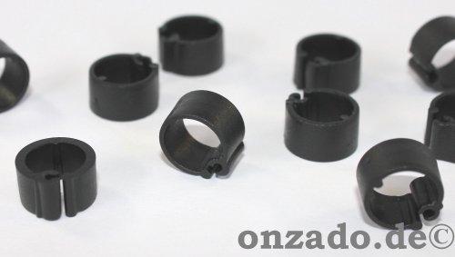 Clipsringe schwarz 07 mm 10 Stück