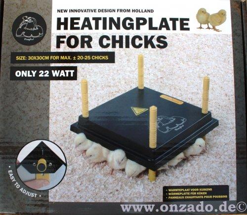 Wärmeplatte für Küken 30x30 cm