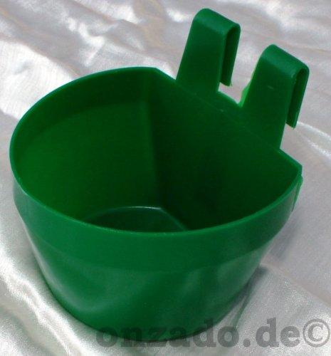 Käfignapf (grün) aus Kunststoff zum Einhängen