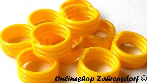 Spiralringe 10 mm gelb 10 Stück