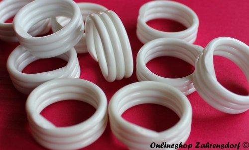 Spiralringe 12 mm weiß 10 Stück