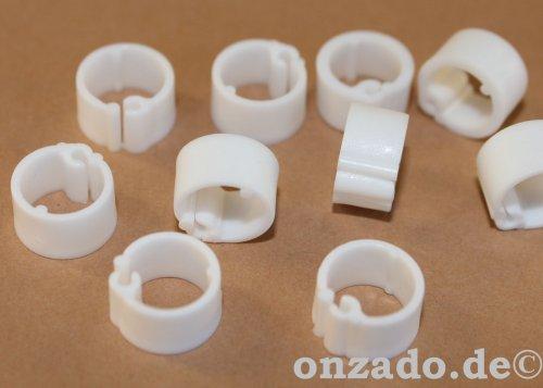 Clipsringe weiß 07 mm 10 Stück