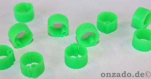 Clipsringe leuchtgrün 07 mm 10 Stück