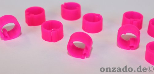 Clipsringe leuchtpink 07 mm 10 Stück