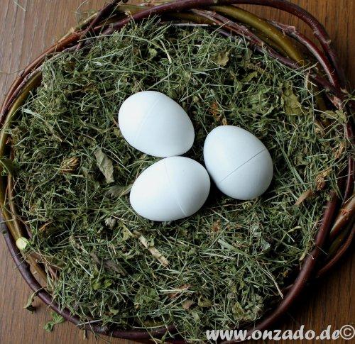 3 Nesteier für Zwerghühner aus Vollkunststoff