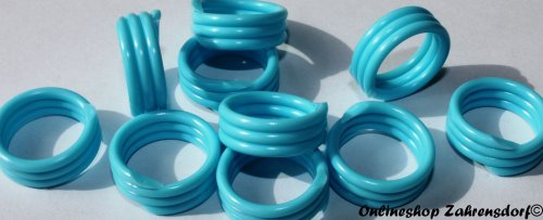 Spiralringe 8 mm hellblau 10 Stück