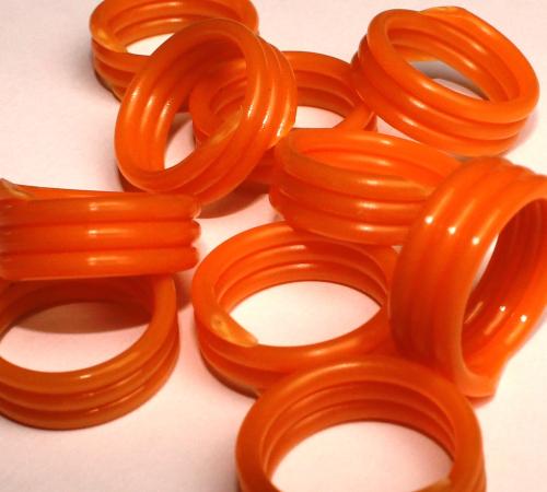 Spiralringe 10 mm orange10 Stück
