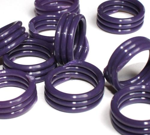 Spiralringe 18 mm lila 10 Stück
