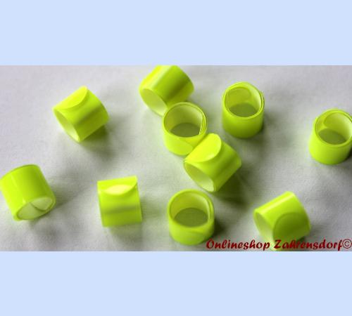 Bandringe 5 mm leuchtgelb10 Stück