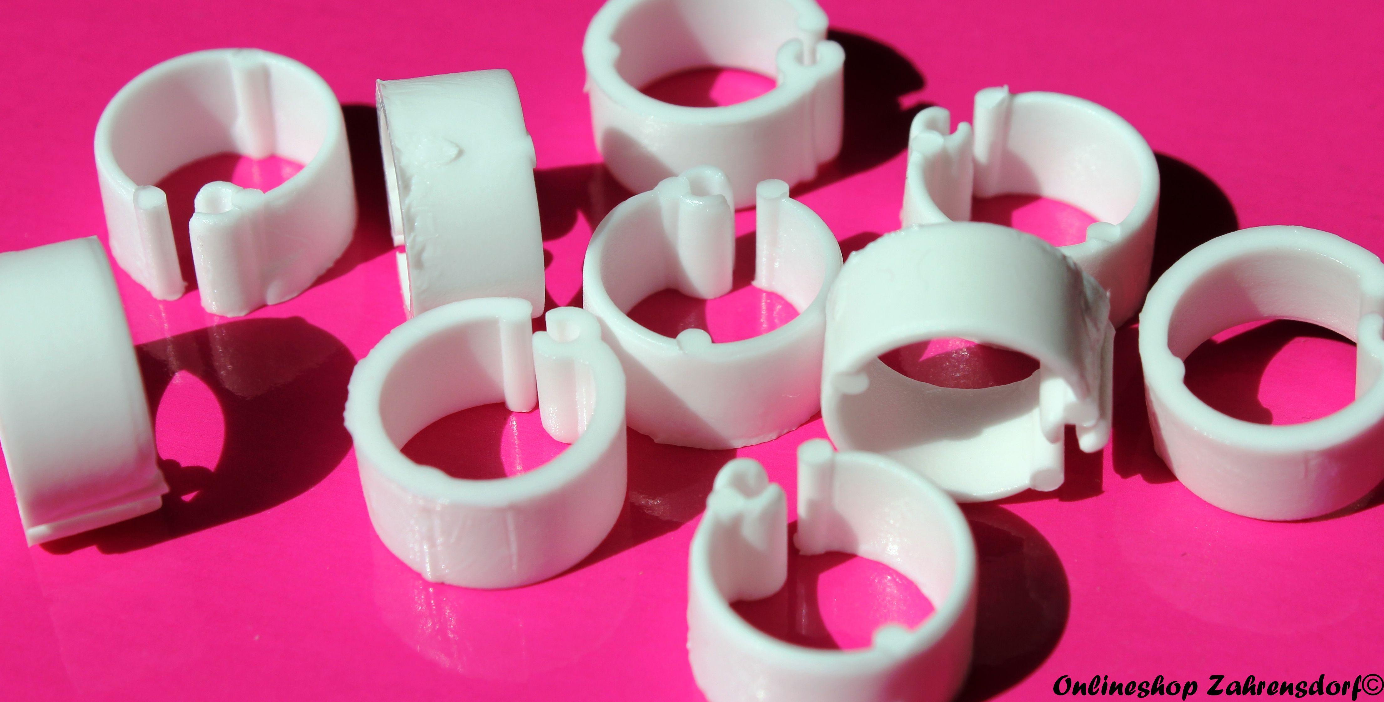 Clipsringe weiß 10 mm 10 Stück