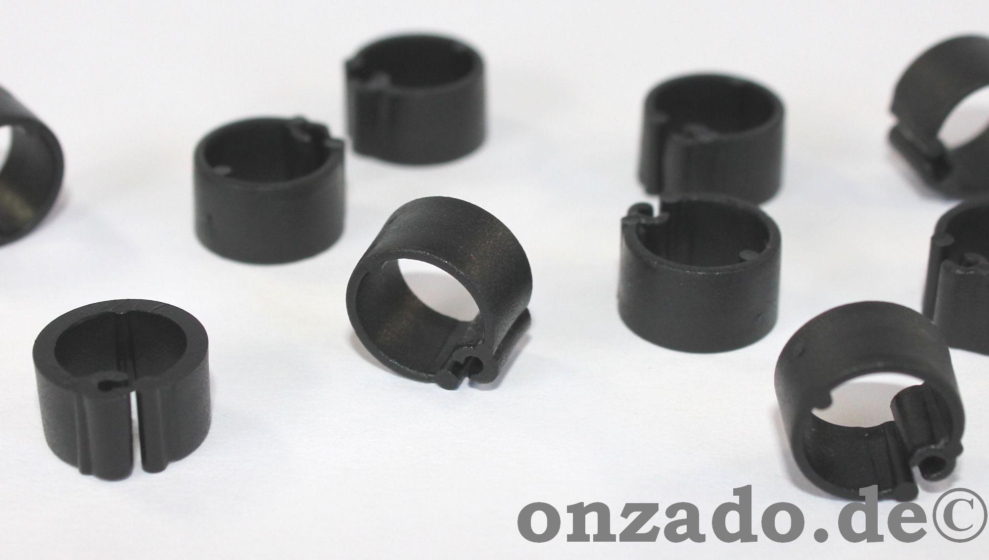 Clipsringe schwarz 10 mm 10 Stück