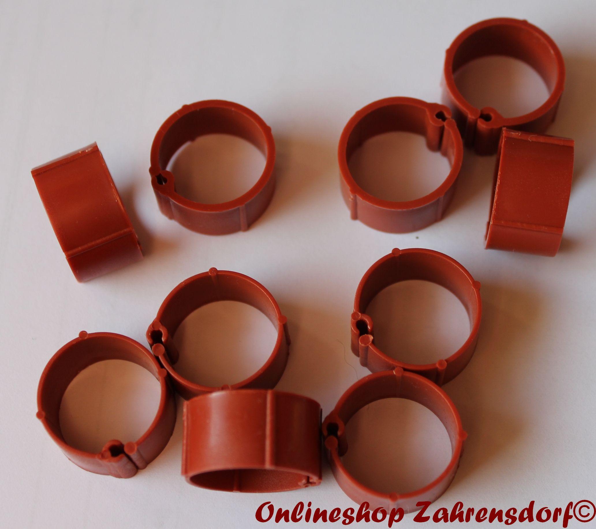 Clipsringe braun 07 mm 10 Stück